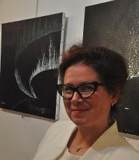 0 ein kunstausstellung der malerin aus strasbourg in elsass verena von lichtenberg in paris gallerie thullier sie ist auch im louvre und grand palais