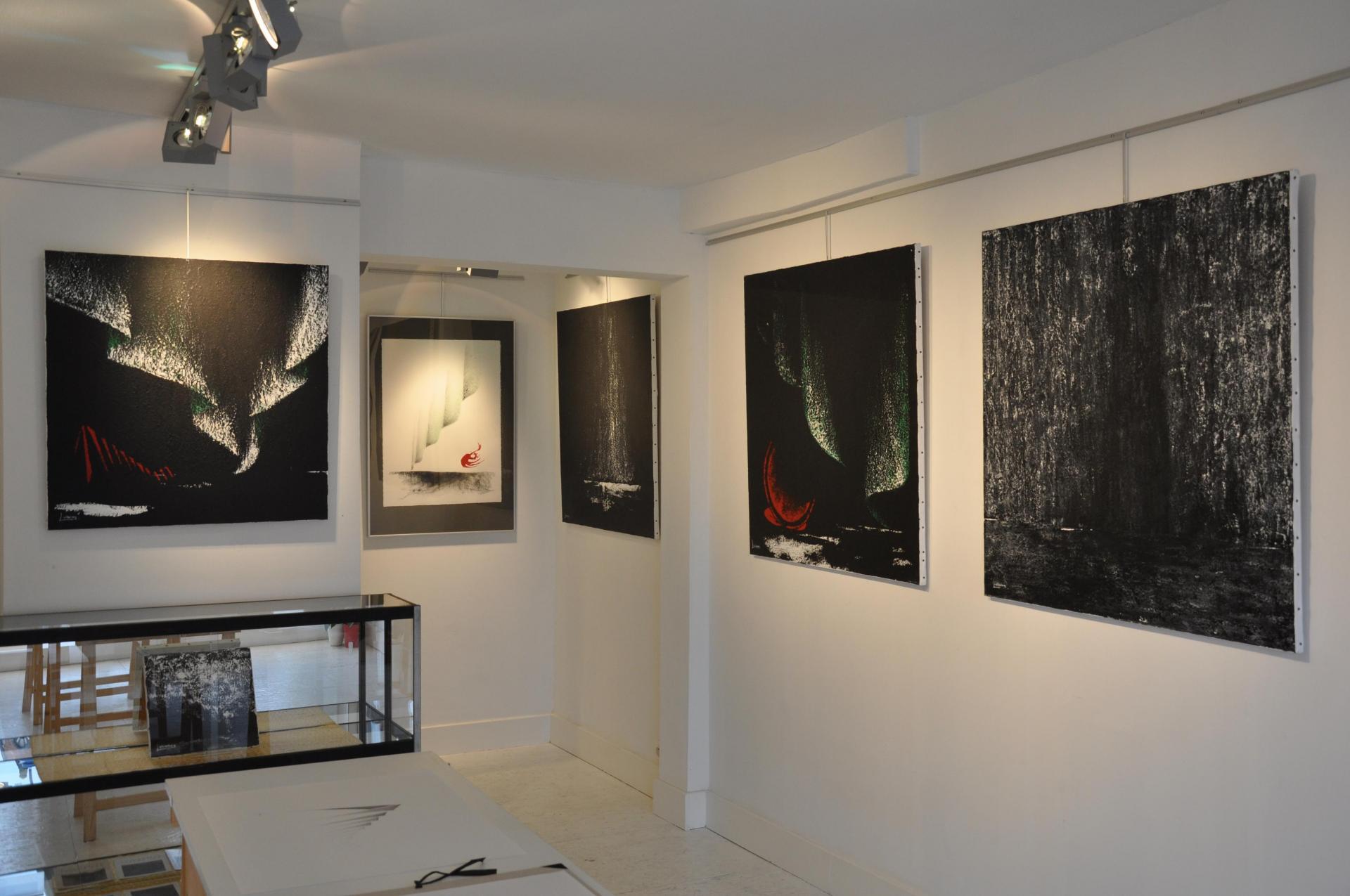 01 die malerin verena von lichtenberg und floris jespers in der galerie utopian art in brugge und florenville orval en belgien