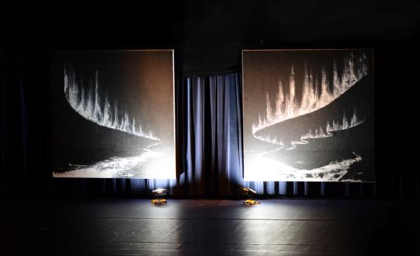 01 le ballet le petit prince saint exupe ry mise en sce ne avec les oeuvres et tableaux d art de l artiste peintre verena von lichtenberg paris une exposition d art particulie re