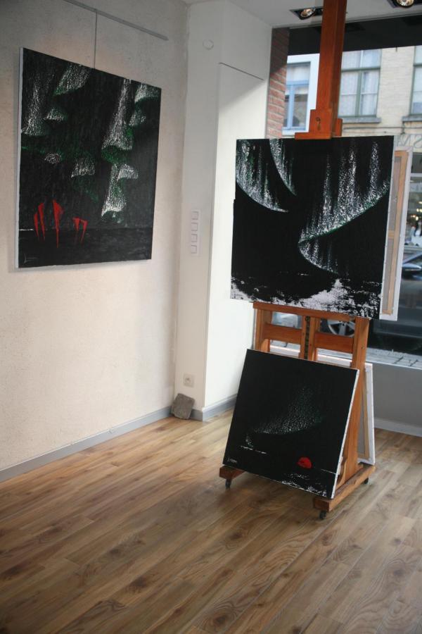 01 in der stadt brugge in belgien und die kunst galerie erasmus s utopia contrast mit zwei kunstler verena von lichtenberg und maurice langaskens