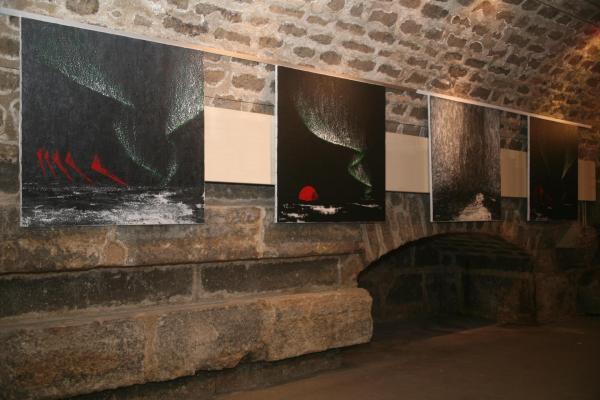 01e une exposition avec les oeuvres d art de l artiste peintre verena von lichtenberg a paris a l eglise de la madeleine a paris en septembre 2014