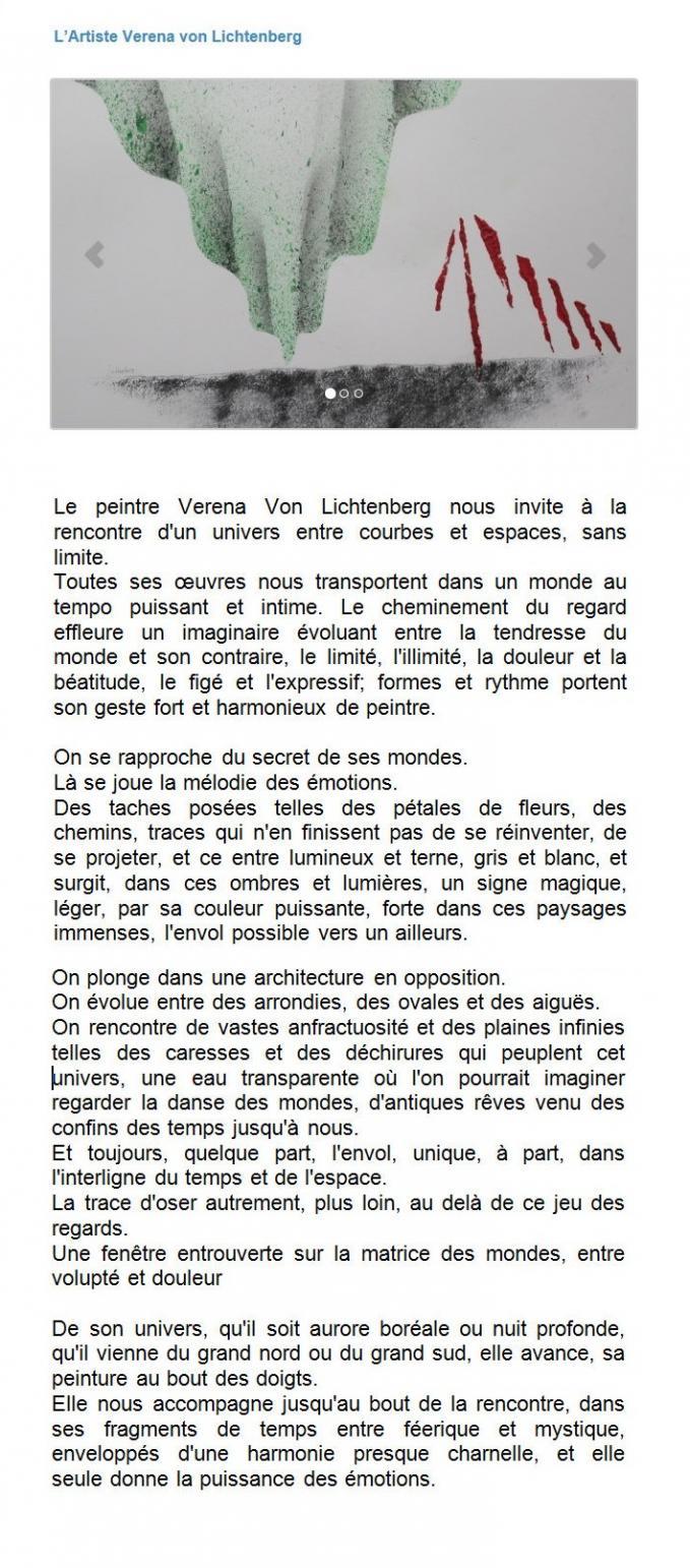 02 the art exhibition in the street and the painter verena von lichtenberg in carpentras