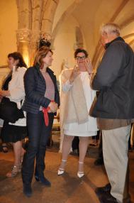 02a les expositions d art nl anne catherin loisier senateur maire de saulieu verena von lichtenberg artiste peintre a paris et le pere thirault une expsoition d art des musees de b