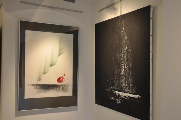 05 l artiste peintre verena von lichtenberg est a florenville proche d orval avec l exposition d art nord licht