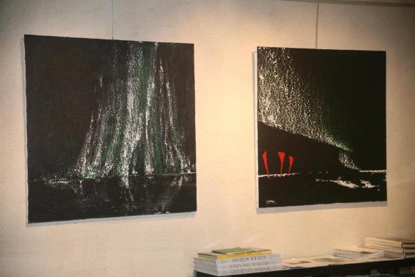 tableaux art et musee des oeuvres d art a la gallerie erasmus s contrast art gallery in brugge une exposition avec Maurice Langaskens et Verena von Lichtenberg peintre
