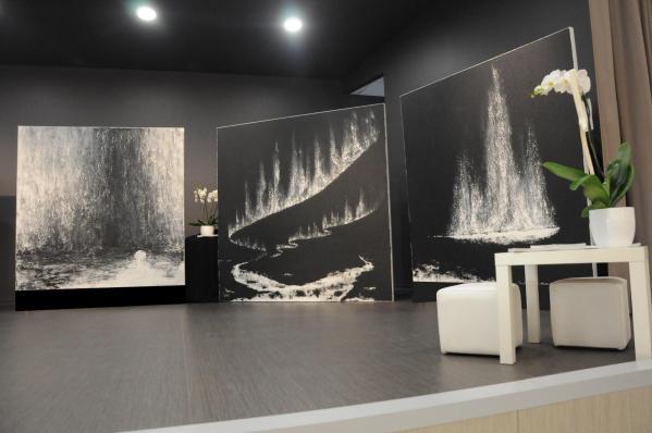 05a die malerin aus strasburg im elsass verena von lichtenberg ist mit ihrer kunstausstellung der museen und galerien in der champagne