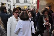 06 eine kunstausstellung in paris in der gallerie thullier acade mie arts sciences lettres l administrateur danielle planson die malerin verena von lichtenberg