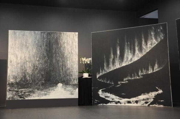 06a die kunstausstellunge der museen und galerien der malerin verena von lichtenberg artiste peintre aus strasburg ist in der champagne reims tinqueux