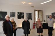 07 colette grossetete adjointe au maire de saulieu a l exposition d art de l artiste peintre verena von lichtenberg au musee pompon en bourgogne