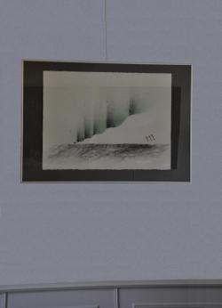 09 die bilder und werke der malerin verena von lichtenberg in einer kunstausstellung in auxerre