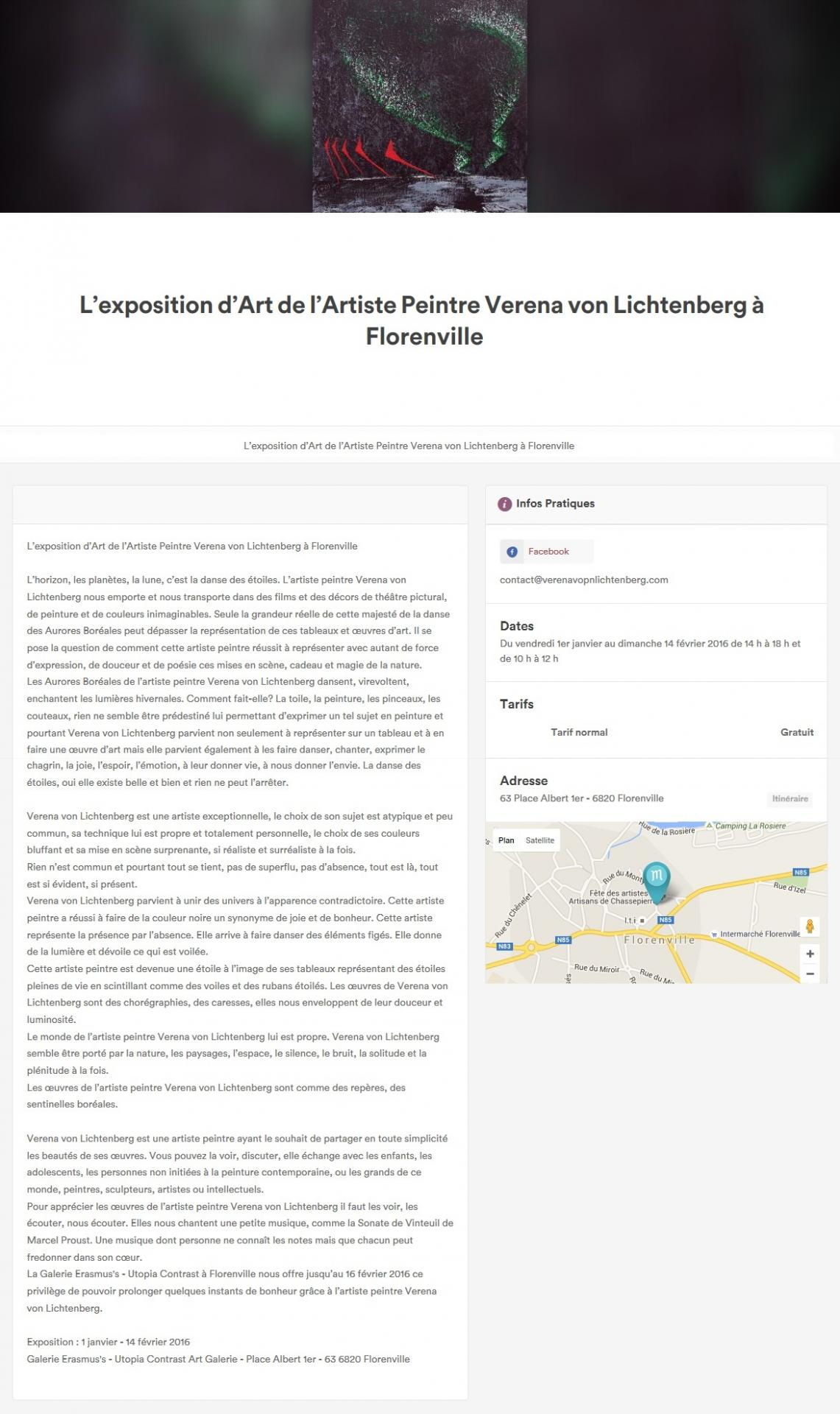 1 florenville une exposition d art de verena von lichtenberg les tableaux et oeuvres d art nord licht 1