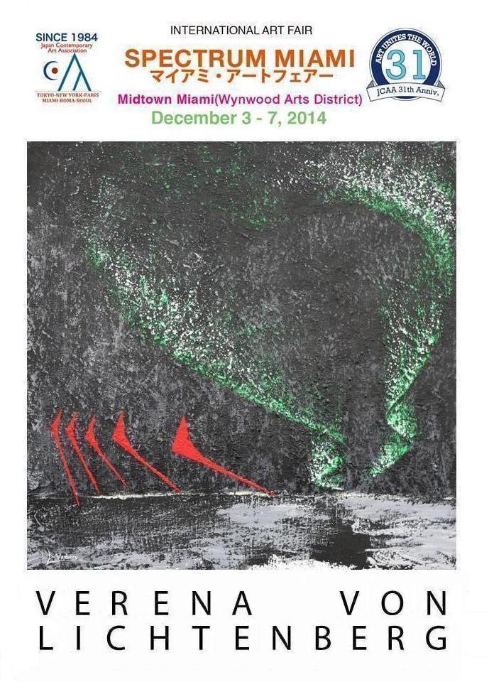 1 miami art fair eine ausstellung mit der kunstlerin verena von lichtenberg aus paris und ihren werken und bilder nord licht