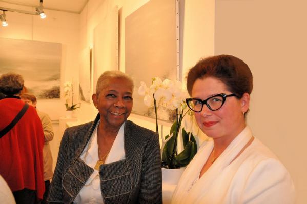 12a marie therese lacombe adjointe au maire paris 6e a l exposition d art de l artiste peintre verena von lichtenberg et ses expositions d art avec les musees et galeries d art
