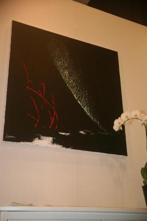 1c verena von lichtenberg l artiste peintre est au carrousel du louvre avec ses oeuvres d art nord licht au salon d art art shopping
