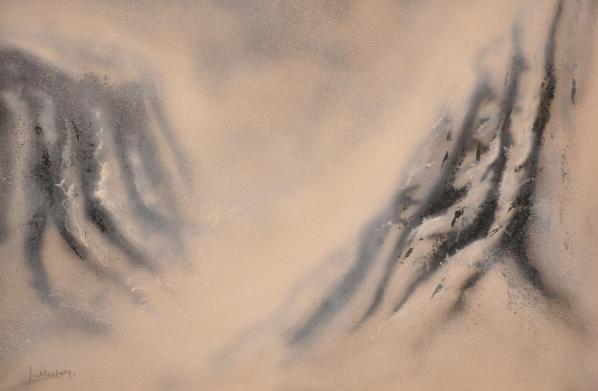 2 a paris l artiste peintre verena von lichtenberg une peinture lyrique une technique au couteau 1