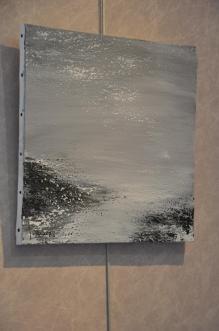 2 l exposition d art lumiere australe de l artiste peintre verena von lichtenberg a la galerie d art art expression des tableaux toiles et oeuvres d art du pole sud