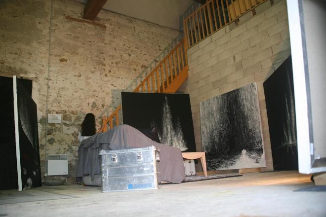 2 verena von lichtenberg die kunstlerin und malerin in paris in ihrem atelier