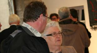 228 le finissage exposition d art de verena von lichtenberg et colette grossetete adjoint au maire de saulieu