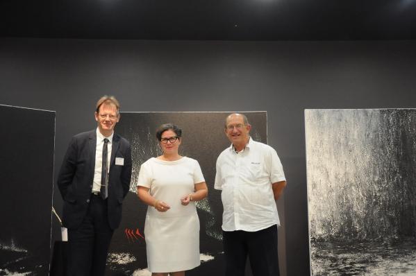 22d luc bila president art et peinture de champagne verena von lichtenberg artiste peintre et daniel une exposition d art des musees et galerie de paris