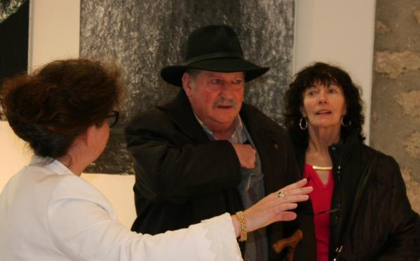 232 l artiste peintre verena von lichtenberg de paris au musee francois pompon de saulieu avec l exposition d art nord licht et lumiere australe