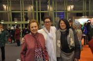 31 celia huet verena von lichtenberg artiste peintre and paule pariente the art exhibition lumiere australe in art en capital grand palais paris