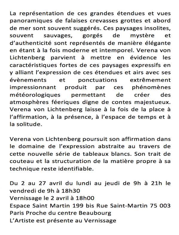 4 exposition d art et de peinture l artiste peintre verena von lichtenberg est a paris beaubourg espace st martin