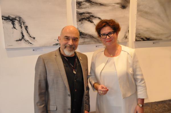 4 le galeriste denis cornet de la galerie d art thuillier a paris l artiste peintre verena von lichtenberg
