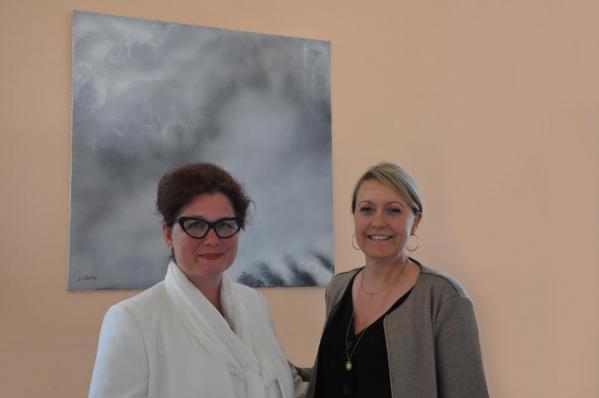 40 verena von lichtenberg artiste peintre ici avec catherine germond en champagne 1