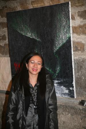 45 verena von lichtenberg une artiste peintre et l exposition d art a paris la madeleine