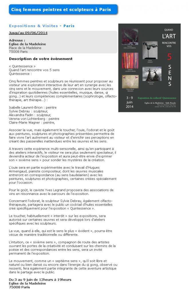 5 femme andt verena von lichtenberg the exhibition in paris eglise de la madeleine