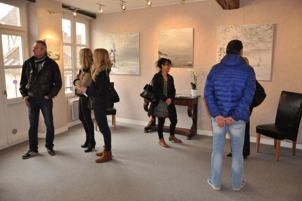 5 l exposition d art lumiere australe de l artiste peintre verena von lichtenberg des tableaux toiles et oeuvres d art et le pole sud a la galerie d art art expression a auxerre