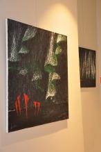 5 verena von lichtenberg artiste peintre des tableaux au couteau acrylique du noir mais pas du soulage