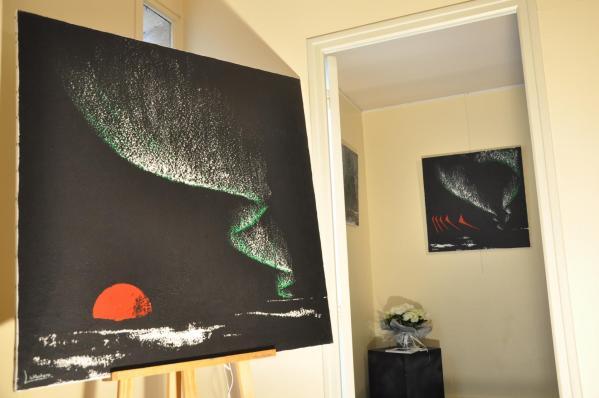 56a l artiste peintre verena von lichtenberg et l exposition d art nord licht a auxerre a la galerie d art art expression