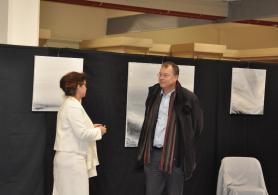6 une exposition d art et de peinture a romorentin verena von lichtenberg artiste peintre didier guenin 1er adjoint au maire de la ville de romorentin