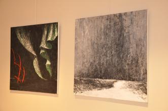 6 verena von lichtenberg artiste peintre des tableaux au couteau acrylique du noir mais pas du soulage