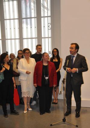 6 verena von lichtenberg artiste peintre franc oise icard pre sidente artec pierre casanova adjoint au maire 5eme paris