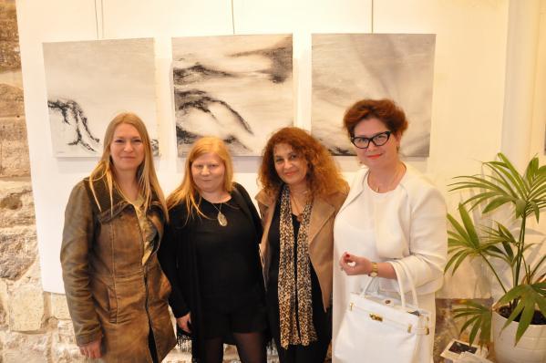 61 he le ne marie joe zama verena von lichtenberg artiste peintre a paris une exposition d art a paris galerie d art thuillier