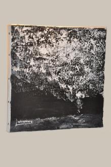 64 die kunstlerin und malerin verena von lichtenberg aus strabourg ist mit ihren werken une gemalden der kunstaustellung nord licht in der champagne bei reims