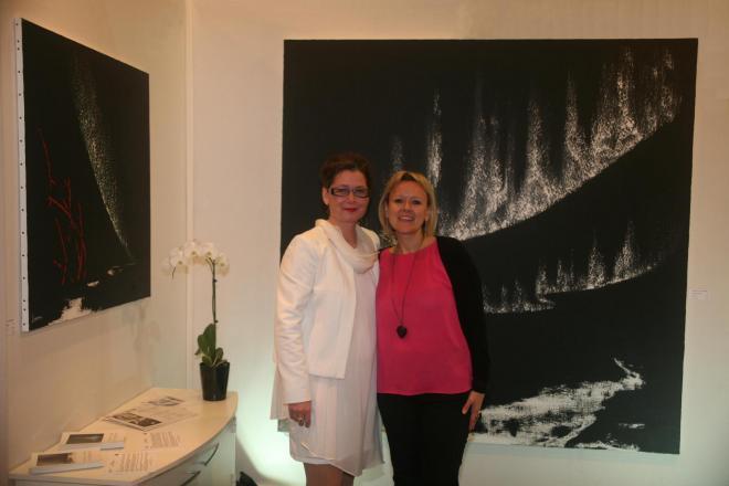 7 verena von lichtenberg artiste peintre au salon d art art shopping au carrousel du louvre avec ses oeuvres d art et l exposition nord licht a paris