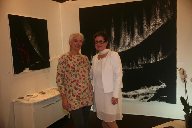 7b verena von lichtenberg artiste peintre et maude au salon d art art shopping et l exposition d art nord licht