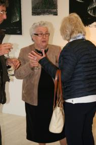 86 exposition d art contemporain colette grossetete adjointe au maire de saulieu a l exposition d art de verena von lichtenberg artiste peintre