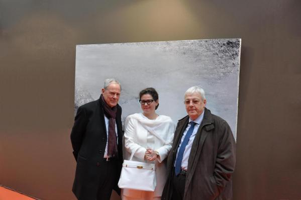 91 robert cadalbert a ete president de la casqy l artiste peintre verena von lichtenberg et jean pierre pluyaud 3eme vice president de la casqy