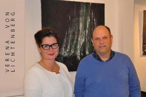 A florenville l artiste peintre verena von lichtenberg l exposition d art a la galerie contrast art galerie proche de l abbaye d orval