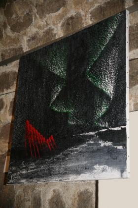 A l eglise de la madeleine les oeuvres d art de l artiste peintre verena von lichtenberg des tableaux et des toiles une exposition en septembre 2014