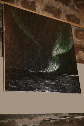 A l eglise de la madeleine les oeuvres d art de l artiste peintre verena von lichtenberg des tableaux et toiles nord licht une exposition en septembre 2014