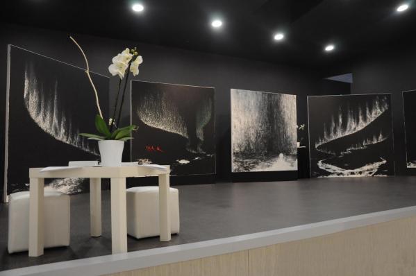 A reims une exposition d art l artiste peintre verena von lichtenberg les tableaux et oeuvres d art de 2m sur 2m
