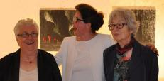 A3 colette grossetete adjointe au maire verena von lichtenber l exposition d art de l artiste peintre verena von lichtenberg de paris a saulieu avec les musee d art de bourgogne
