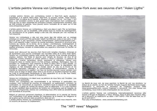 Art news l exposition d art de l artiste peintre verena von lichtenberg des tableaux et oeuvres d art en muse e et galerie