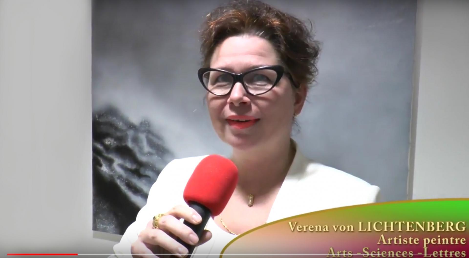 Beaubourg exposition d art l artiste peintre verene von lichtenberg de paris