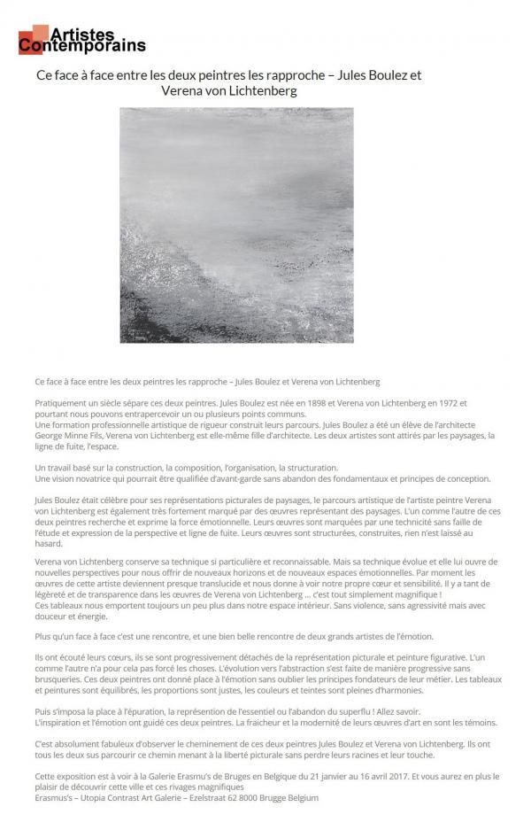 Der maler und kunstler verena von lichtenberg aus darmstadt frankfurt und jules boules eine kunstausstellung in belgien erasmus s art galerie